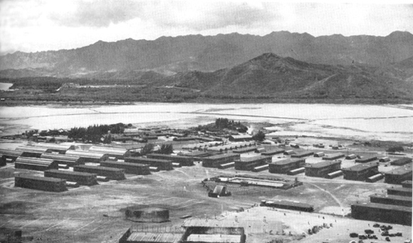 Barracks and Recreation Field at Kaneohe Naval Air Station